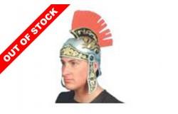 HAT: ROMAN HELMET RUBBER W/PLUME