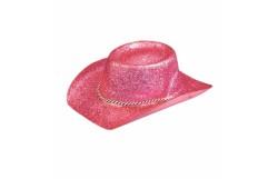HAT: GLITTER COWBOY (ADULT) PINK