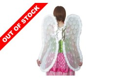 LARGE ANGEL WINGS WHITE/SILVER