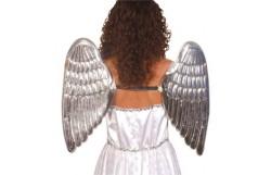 ANGEL WINGS SILVER PVC LARGE