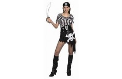FEMALE PIRATE QUEEN COSTUME for Wacky Hen Party Do;s